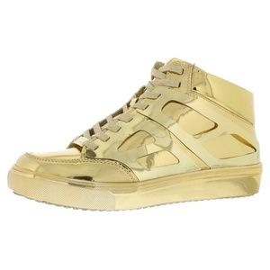 STEVE MADDEN TWO TONE GOLD LACE SNEAKER SIZE 8
